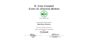 Nutrition Certificate Thumbnail