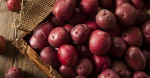 Red Potatoes with Greens
