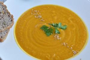 Carrot & Sweet Potato Puree Soup Recipe