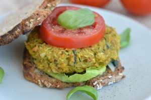 Chickpea-Summer Squash Veggie Burger Recipe