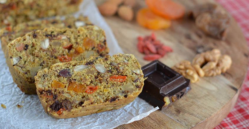 Nutty Ginger Christmas Cake Plant Based Recipe Dessert
