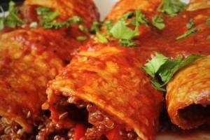 Red Quinoa Enchiladas Rojas Recipe