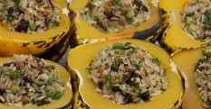 Wild Rice Stuffed Carnival Squash Recipe