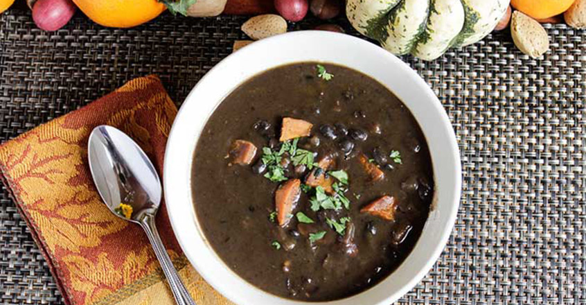 Black Bean Soup with Sweet Potatoes - Plant-Based Diet - Vegan ...