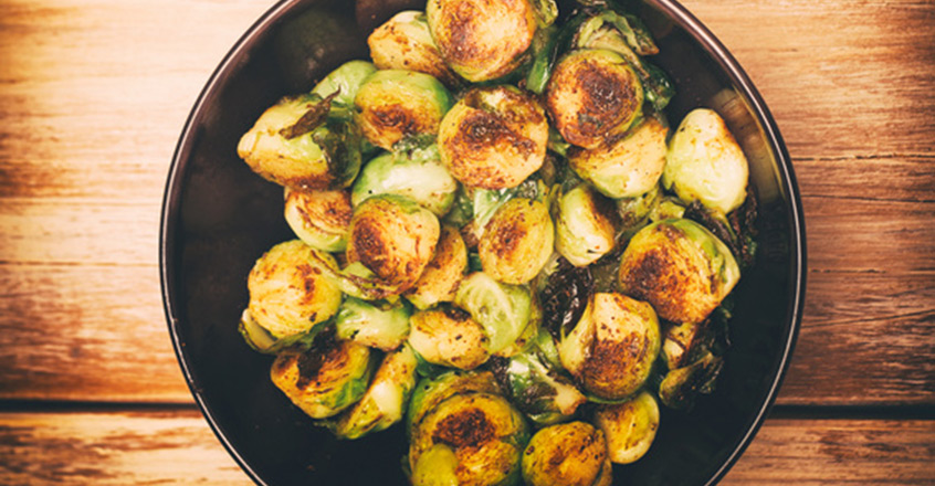 Roasted Brussels Sprouts With White Wine