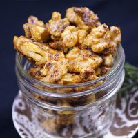 Maple and curry roasted nuts