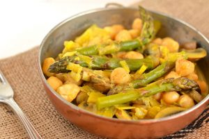 Chickpea Curry With Asparagus and Mushrooms Recipe