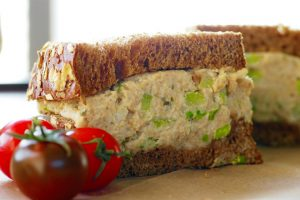 Deli Style 'Tuna' Salad Sandwich with Cashew Mayo